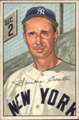 1952 Bowman #252 Frank Crosetti CO