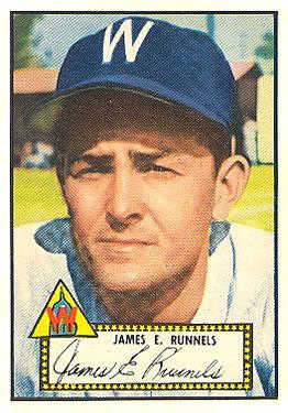 1952 Topps #2A Pete Runnels Black