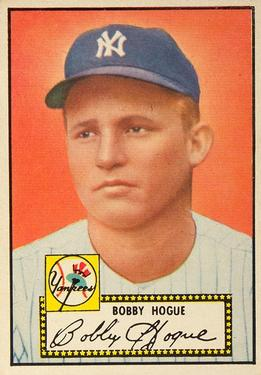 1952 Topps #9A Robert Hogue Black RC
