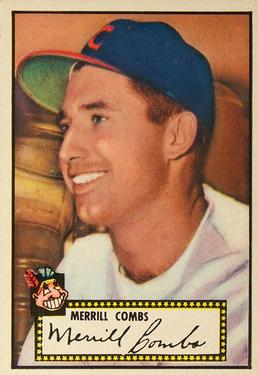 1952 Topps #18A Merrill Combs Black RC