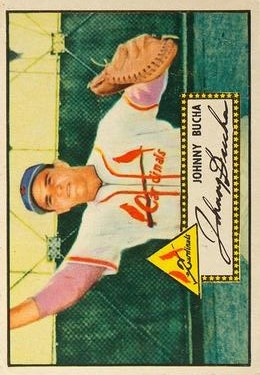 1952 Topps #19A Johnny Bucha Black RC