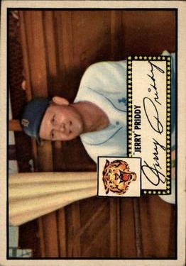 1952 Topps #28A Jerry Priddy Black