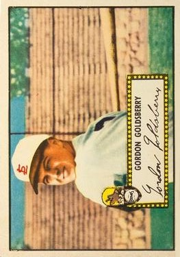 1952 Topps #46A Gordon Goldsberry Black