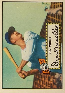 1952 Topps #52A Don Mueller Black