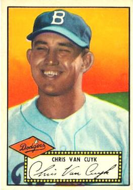 1952 Topps #53A Chris Van Cuyk Black