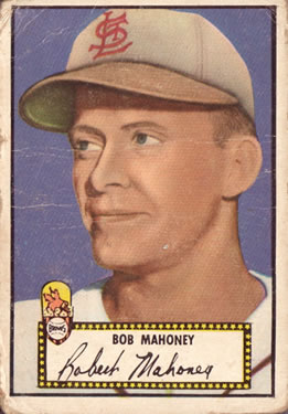 1952 Topps #58A Bob Mahoney Black