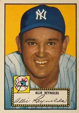 1952 Topps #67A Allie Reynolds Black front image