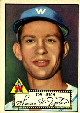 1952 Topps #71A Tom Upton Black