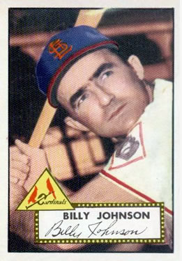 1952 Topps #83 Billy Johnson