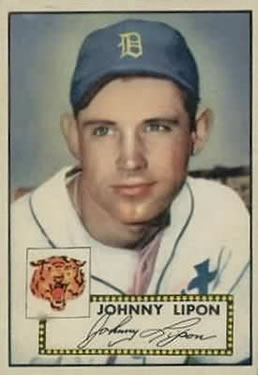 1952 Topps #89 Johnny Lipon front image