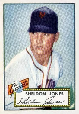 1952 Topps #130 Sheldon Jones front image