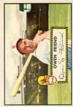 1952 Topps #160 Owen Friend