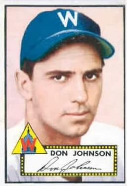 1952 Topps #190 Don Johnson RC