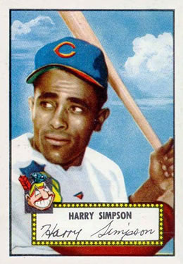 1952 Topps #193 Harry Simpson RC