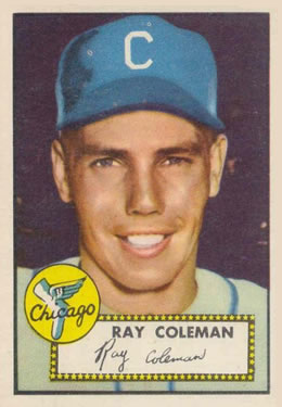 1952 Topps #211 Ray Coleman