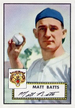 1952 Topps #230 Matt Batts
