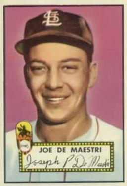 1952 Topps #286 Joe DeMaestri SP RC