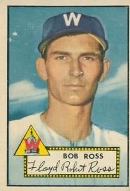 1952 Topps #298 Bob Ross SP RC