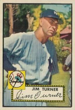 1952 Topps #373 Jim Turner CO RC