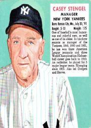 1952 Red Man #AL1 Casey Stengel MG