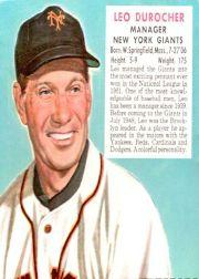 1952 Red Man #NL1 Leo Durocher MG
