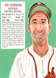 1952 Red Man #NL6 Sid Gordon front image