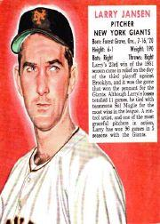 1952 Red Man #NL10 Larry Jansen front image