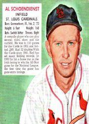 1952 Red Man #NL19 Red Schoendienst