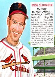 1952 Red Man #NL20 Enos Slaughter