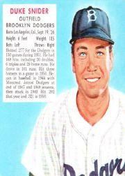 1952 Red Man #NL21 Duke Snider