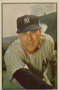 1953 Bowman Color #27 Vic Raschi