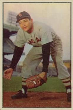 1953 Bowman Color #54 Chico Carrasquel front image