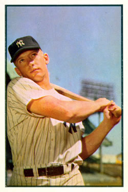1953 Bowman Color #59 Mickey Mantle