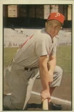 1953 Bowman Color #67 Mel Clark RC