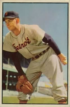 1953 Bowman Color #72 Ted Gray