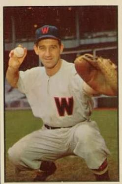 1953 Bowman Color #77 Mickey Grasso
