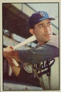 1953 Bowman Color #78 Carl Furillo front image