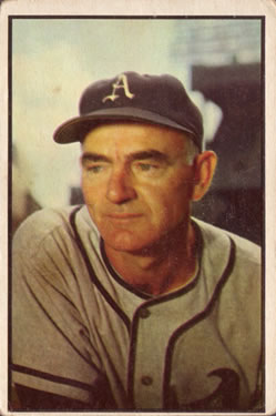 1953 Bowman Color #95 Wally Moses CO