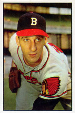 1953 Bowman Color #99 Warren Spahn