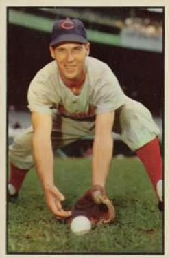 1953 Bowman Color #108 Bobby Adams