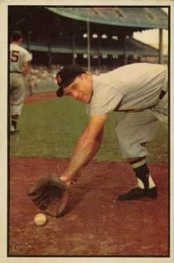 1953 Bowman Color #116 Eddie Yost
