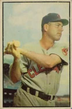 1953 Bowman Color #119 Dale Mitchell