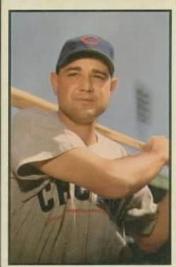 1953 Bowman Color #122 Bill Serena