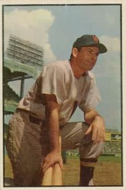 1953 Bowman Color #159 Mickey Vernon UER/Floyd Baker pictured