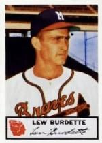 1953 Braves Johnston Cookies #5 Lew Burdette