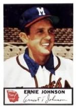 1953 Braves Johnston Cookies #7 Ernie Johnson