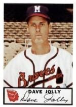 1953 Braves Johnston Cookies #8 Dave Jolly