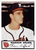 1953 Braves Johnston Cookies #10 Warren Spahn