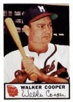 1953 Braves Johnston Cookies #14 Walker Cooper