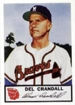 1953 Braves Johnston Cookies #15 Del Crandall